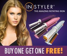 Instyler Rotating Hot Hair Iron, style your hair in half the time