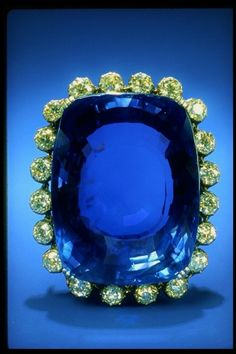 """The Logan Sapphire Brooch.Historically the finest sapphire gems came from Sri Lanka and Burma, and the same is prettymuch true today. Sri Lanka, nicknamed the """"Gem Island,"""" has been an important source of sapphires, rubies and other gemstones for more than two thousand years.The stones that have been eroded from Sri Lanka's central mountains are still plucked by hand from gravel deposits that cover most of the southern half of the island."""