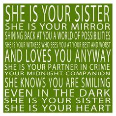 Love, Love, Love my sisters!