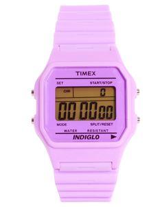 80 pastel purple buckle clasp watch ++ timex