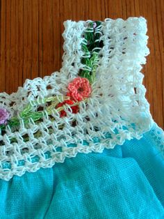 Crochet Flower Baby Dress by GemDiggers on Etsy, $19.00