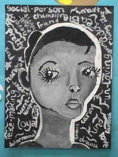 """Values"" Self Portraits - Art Lesson Ideas"