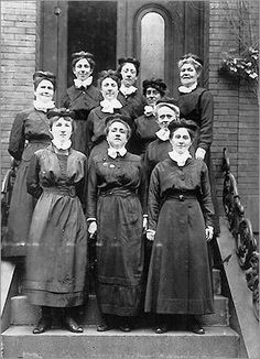 Nurses uniforms from the 1920's...