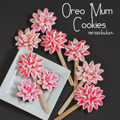 Pint Sized Baker: Oreo Mum Cookie Flowers