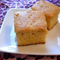 """Sour Cream Cornbread   """"This is hands down the best cornbread I've ever made. Very moist and sweet on the inside and buttery crispy on the outside. I halved the recipe for a 9 in pan and baked for 25 min. Came out perfect!"""" -JENCHA #food #yummy #delicious"""