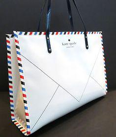 Kate Spade Joseph Par Avion Bone Envelope Bag | eBay