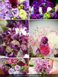 color palettes, color schemes, blue, wedding bouquets, purple flowers, flower bouquet, purple wedding flowers, flower ideas, purple bouquets