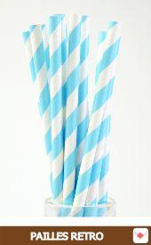 pailles rétro papier bleu #worldcup #brazil #pailles #sweettables #party #GoBrazil