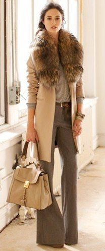 fall fashions, fur collar, chic, neutral fashion style, outfit, camels, camel brown, bags, coat