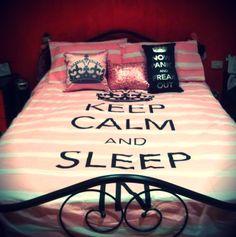 bed spread Keep calm & sleep