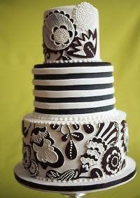 Black & White Wedding Cake