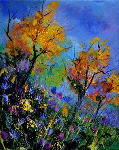 "Saatchi Online Artist: Pol Ledent; Oil, 2012, Painting ""enf of summer"""