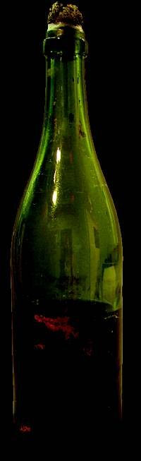 A champagne bottle from Titanic: The Artifact Exhibition at the ...