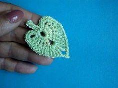 How to crochet linden leaf