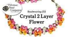 Crystal 2 Layer Flower Bracelet - Media - Beading Daily