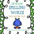 This packet includes all the first grade spelling words (units 1-6) to use with the Wonders Reading Series.  They are perfect for hanging up the we...