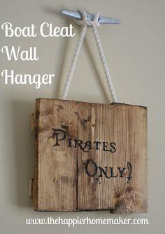 The Happier Homemaker: Boat Cleat Wall Hanger - Decoration at the lake cabin @catherinelavoie je te fais ça cet été! :P