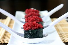 Vegan Sushi: Faux-Roe Gunkanmaki with Pickled Daikon