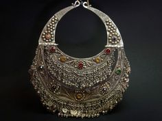 Old Kuchi silver, filigree and glass torc.  Holy Hell, I want this!