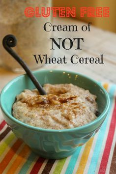 Gluten Free Cream of NOT Wheat Cereal Thanks for sharing at vegetarianmamma.com's #glutenfreefridays link up!  #glutenfree #gfree #gf