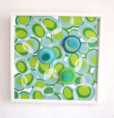 """Magnetic Board with three felt magnets, Wooden frame, 12""""X12"""" #FengShui  #art  $44  @TamTam Designs"""