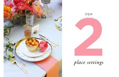 How to Style a Wedding Table // Styling by Anne Book // Item Two: Place Settings