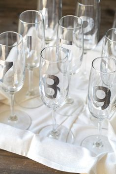Sugar and Charm: countdown glasses for new years
