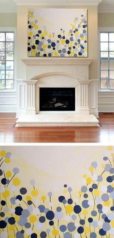 Wall Art: Simple Canvas Painting #DIY | katrinasbaguettes.tumblr.com