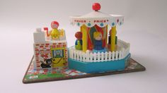 aww... Fisher Price Merry Go Round- 60's Toy