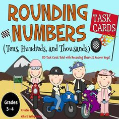 Rounding Numbers Task Cards {Tens, Hundreds, and Thousands} $