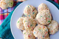 Skinny Funfetti Cake Cookies