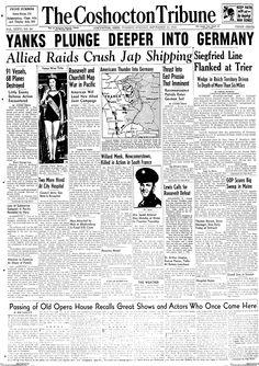 Venus Ramey, Miss America 1944, Newspaper Article