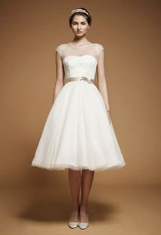Love this vintage frock as a second wedding dress!