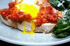 eggs in tomato sauce by smitten, via Flickr