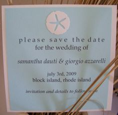 sand dollar save the dates