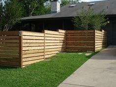 horizontal fence with gate