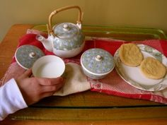 Tea, Japan style for Grandfather's Journey and Red Clogs FIAR