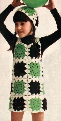 This will be the next little dress I make so cute.  Metro Granny Square Jumper & Hat