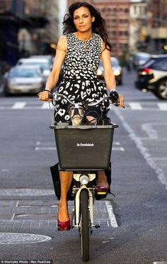 Celebrity Bike Style: Famke Janssen