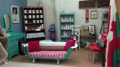 Claw foot tub repurposed as a sofa.