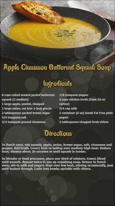 Apple Cinnamon Butternut Squash Soup thanksgiving recipes thanksgiving recipes recipes easy recipes ingredients instructions baking recipe ideas dinner recipes