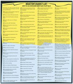 Houston Bucket List from Houston Press