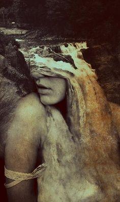 Woman/waterfall cool art!