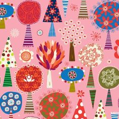 carolyn gavin, tree, pattern pin, graphism, colors, prints, blog, print patterns, surtex