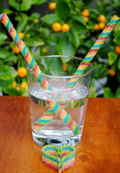 How to make Edible Candy Straws out of Airhead's Extreme Sour Candy. Fun party or holiday idea or anytime!