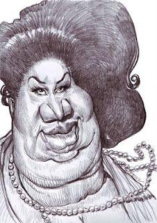 Artist:Jan Op De Beeck   Caricature:Aretha Franklin