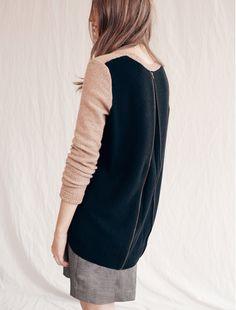 back-zip pullover