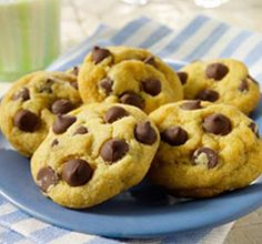Chocolate chip cookies made with Silk soy milk. (I also use bestlife buttery baking sticks and ghirardelli chocolate chips so they are completely dairy-free.) These are also egg-free. And, they are yummy!