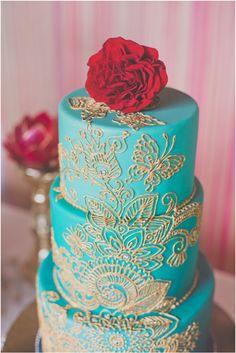 Butterfly Wedding Cake Motif {Indian Inspiration Bridal Shoot} | Photo by http://hazelwoodphoto.com Cake by http://artisancakecompany.com
