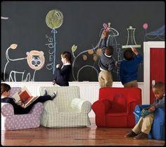 Chalkboard Walls  Great for kids rooms!